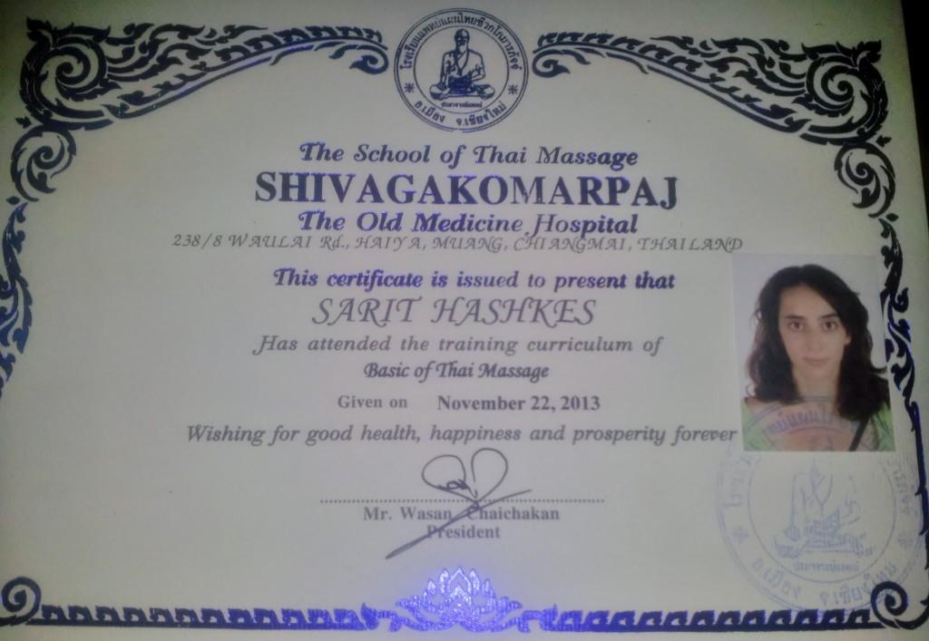 Certified Thai masseuse