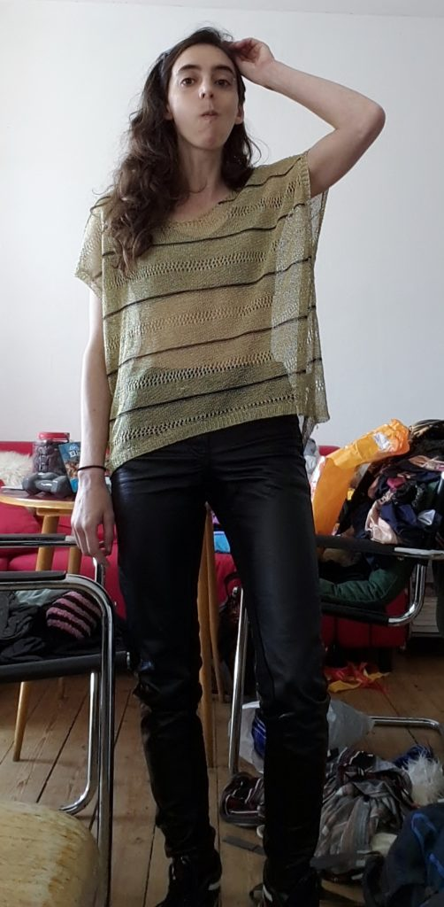 Preparations, black pants and practicing a bored ennoyed look
