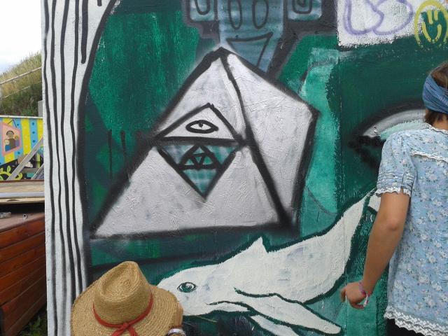 My pyramid graffiti